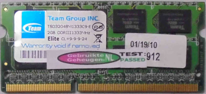 TeamGroup 2GB PC3-10600S 1333MHz