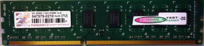 Transcend 2GB PC3-10600U 1333MHz
