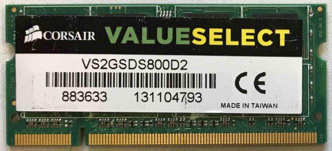 ValueSelect 2GB PC2-6400S 800MHz