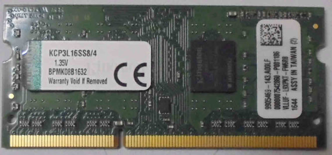 Kingston 4GB PC3L-12800S 1600MHz