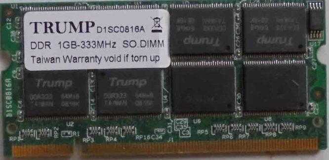 Trump 1GB PC2700S 333MHz