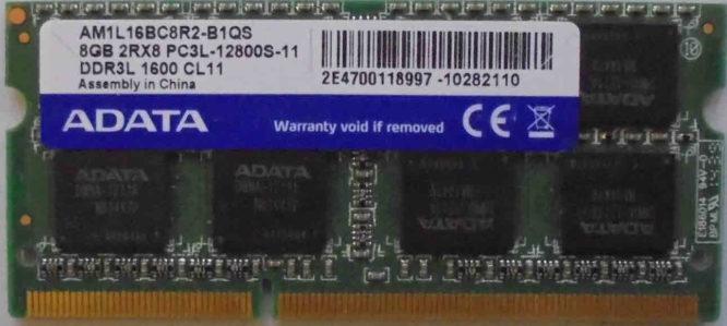 Adata 8GB PC3L-12800S 1600MHz