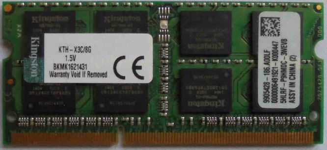 Kingston 8GB PC3-12800S 1600MHz