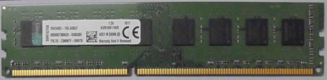 Kingston 8GB PC3-12800U 1600MHz