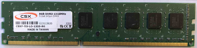 CSX 8GB PC3-10600U 1333MHz