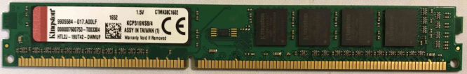 Kingston 4GB PC3-12800U 1600MHz