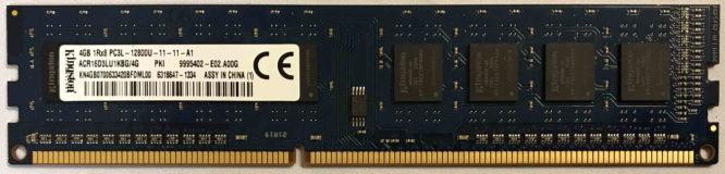 Kingston 4GB PC3L-12800U 1600MHz