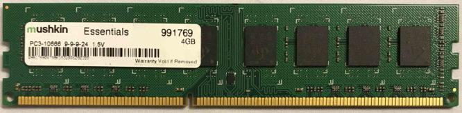 Mushkin 4GB PC3-10600U 1333MHz