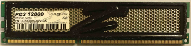 OCZ 2GB PC3-12800U 1600MHz