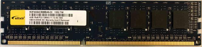 Elixir 4GB PC3-12800U 1600MHz