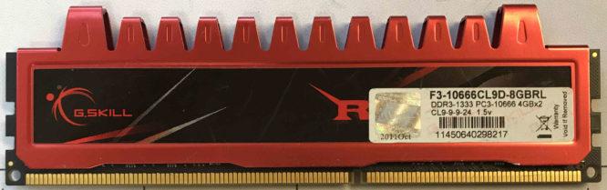 G.Skill 4GB PC3-10600U 1333MHz