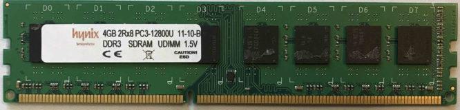 Hynix 4GB PC3-12800U 1600MHz