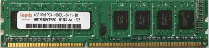 Hynix 4GB PC3-10600U 1333MHz