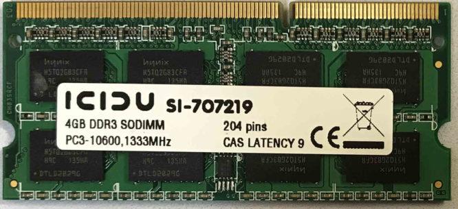 Icidu 4GB PC3-10600S 1333MHz