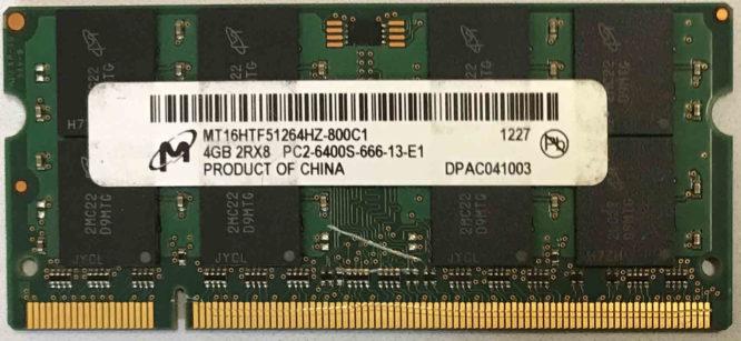 Micron 4GB PC2-6400S 800MHz