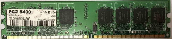 OCZ 2GB PC2-5300U 667MHz
