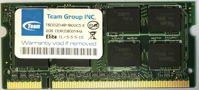 TeamGroup 2GB PC2-6400S 800MHz