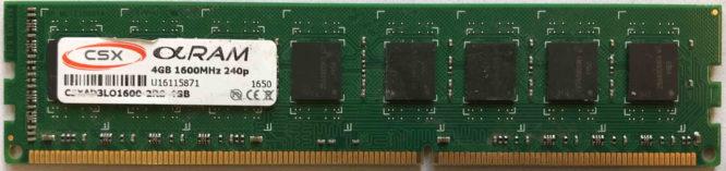 CSX 4GB PC3-12800U 1600MHz