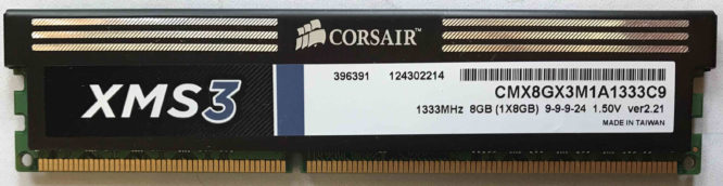 Corsair 8GB PC3-10600U 1333MHz