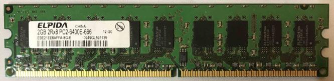 Elpida 2GB PC2-6400E 800MHz