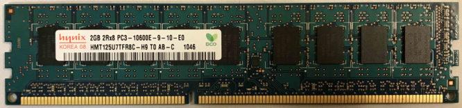 Hynix 2GB PC3-10600E 1333MHz