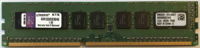 Kingston 4GB PC3-10600E 1333MHz