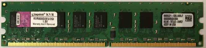 Kingston 2GB PC2-6400E 800MHz