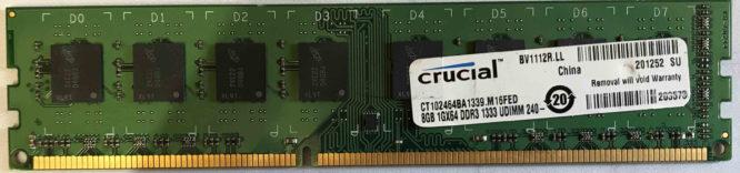 Crucial 8GB PC3-10600U 1333MHz