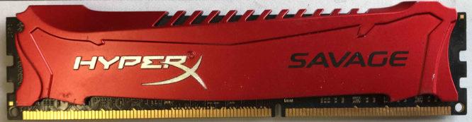 Kingston 8GB PC3-12800U 1600MHz HyperX Savage