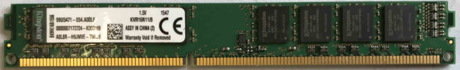 Kingston 8GB PC3-12800U 1600MHz