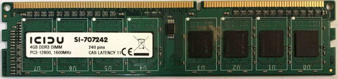 Icidu 4GB PC3-12800U 1600MHz