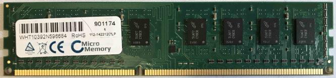 MicroMemory 4GB PC3-10600U 1333MHz