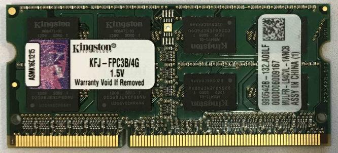 Kingston 4GB PC3-10600S 1333MHz