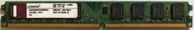 Kingston 2GB PC2-6400U 800MHz
