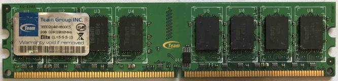 TeamGroup 2GB PC2-6400U 800MHz
