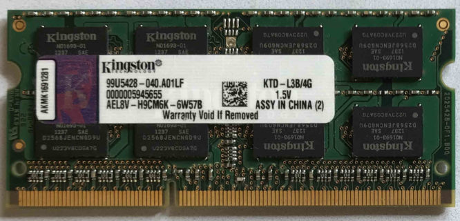 Kingston 4GB PC3-10600S 1333MHz