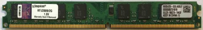Kingston 2GB PC2-5300U 667MHz