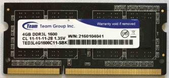 Team Group 4GB PC3L-12800S 1600MHz