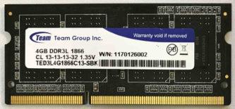 Team Group 4GB PC3L-14900S 1866MHz