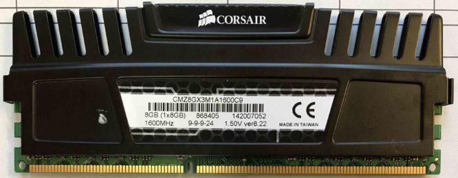 Corsair 8GB PC3-12800U 1600MHz