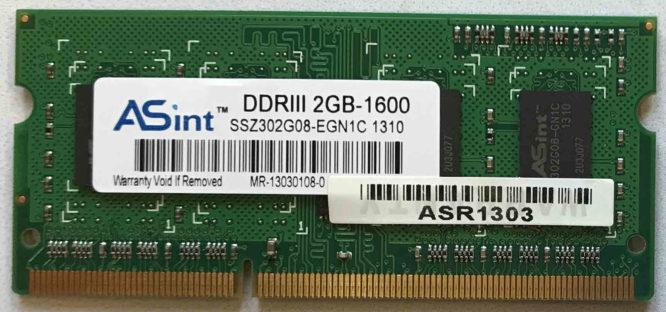 Asint 2GB PC3-12800S 1600MHz