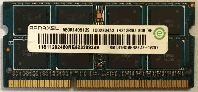 Ramaxel 8GB PC3-12800S 1600MHz