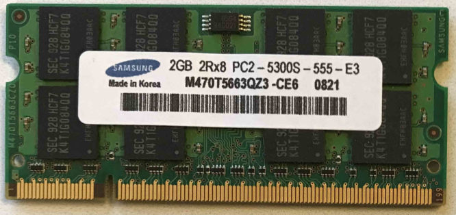 Samsung 2GB PC2-5300S 667MHz