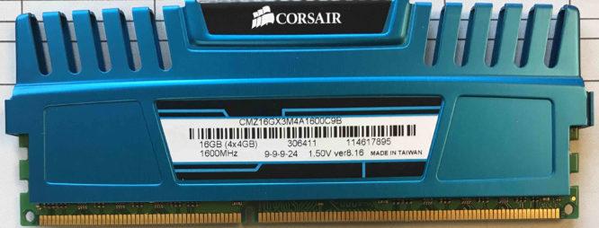 Corsair 4GB PC3-12800U 1600MHz