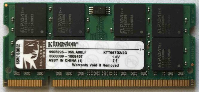 Kingston 2GB PC2-5300S 667MHz