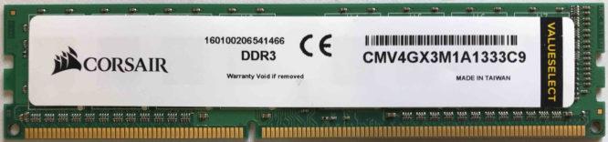 Corsair 4GB PC3-10600U 1333MHz