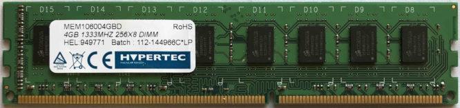 Hypertec 4GB PC3-10600U 1333MHz