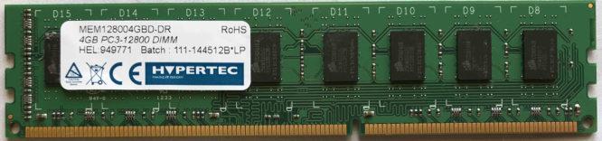 Hypertec 4GB PC3-12800U 1600MHz