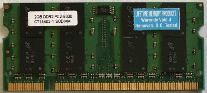 Lifetime 2GB PC2-5300S 667MHz