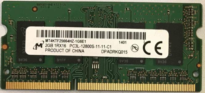 Micron 2GB PC3L-12800S 1600MHz